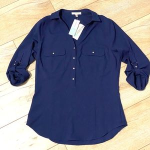 Stitch Fix Skies are Blue Blouse Navy NWT S